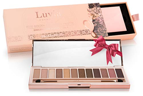 Luvia Profi Lidschatten-Palette - Endless Nude Eyeshadow Palette - Inkl. 12 Matten & Warmen Schimmer...