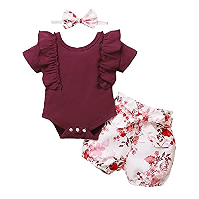 Amazon Promo Code Baby Girl Clothes Newborn Outfit Short Sleeve Ruffle 01072021071713