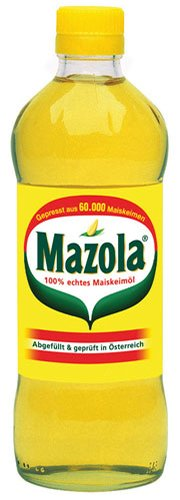 6x Mazola - 100% Reines Keimöl aus Mais - 500ml