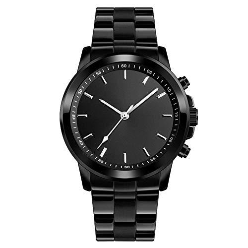 Reloj inteligente de salud y fitness, monitoreo del sueño, Bluetooth, control remoto de fotos, SOS, para ayudar a la actividad física, para hombre, color negro