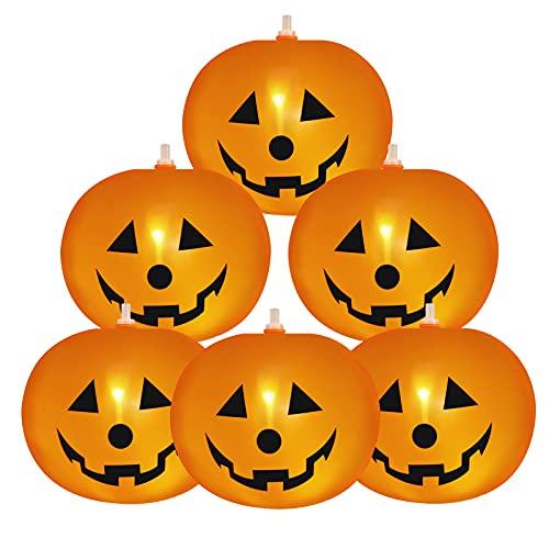 DORART Palloncino Zucca Halloween con Luce 20 Unita 23cm, Palloncini Giocattolo bambini Decorazioni di Halloween per Casa Bar Club