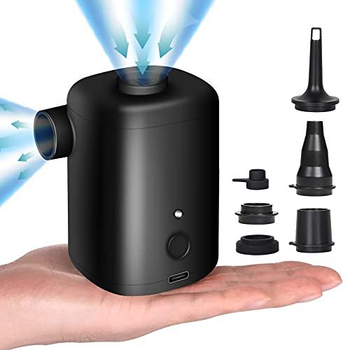 FreeLionVon Bomba de Aire Eléctrica para Hinchables/Desinflador con Batería Recargable USB de...