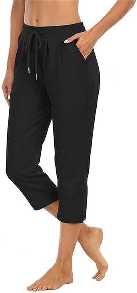 NP Capri Pants Color Waist Loose Trousers for Women Streetwear Casual Pant