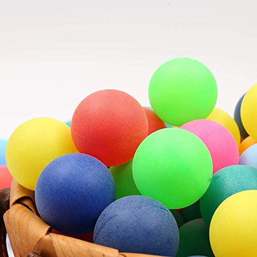 BIGTREE 50 Pz Cani Gatti Giocattoli Palline da Ping Pong Palline da Ping Pong Decorazioni Colore Artigianato Lotteria Beer Pong Feste Bomboniere Giochi d'Acqua Multicolore
