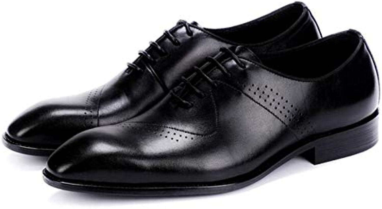 LOVDRAM LOVDRAM LOVDRAM MAN'S Leather skor Modern Gentlemän Suit Formal Oxfords Genuine Leather Mens Wedding Party svart röd Dress skor Man Wingp Brogue  no.1 online