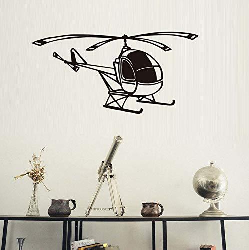 rylryl Großhandel Kleine Hubschrauber Wandaufkleber Für Jungen Schlafzimmer Flugzeug Aufkleber Für Baby Kindergarten Wohnzimmer DIY Vinyl Removable Decor 59x29 cm