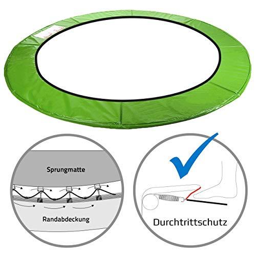 Kinetic Sports Randabdeckung für Garten - Trampolin mit ca. Ø 250 cm, Breite 26cm, UV beständig, reißfest, Outdoor und Indoor geeignet, GRÜN