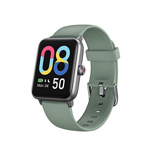 Vigorun Smartwatch,Fitness-Tracker,5ATM Wasserdicht Fitness Armbanduhr,1,55 Zoll Touch Farbdisplay Fitness Armband mit Wettervorhersage Pulsuhren Schrittzähler Schlafmonitor für Damen Herren
