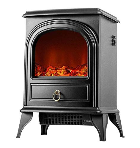 Nfudishpu Electric winter fireplace heater with realistic 3D flame for free-standing fireplace with overheating protection portable interior heating For indoor and outdoor