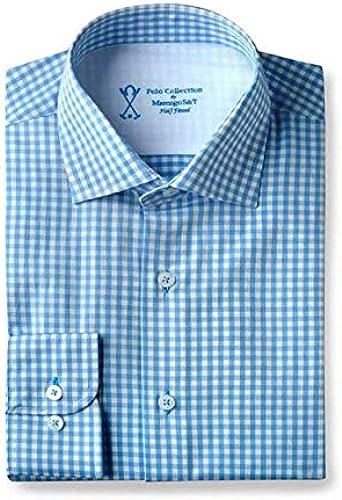 Marengo Polo Camisa Vestir Hombre Cuadros Azules: Amazon.es: Ropa