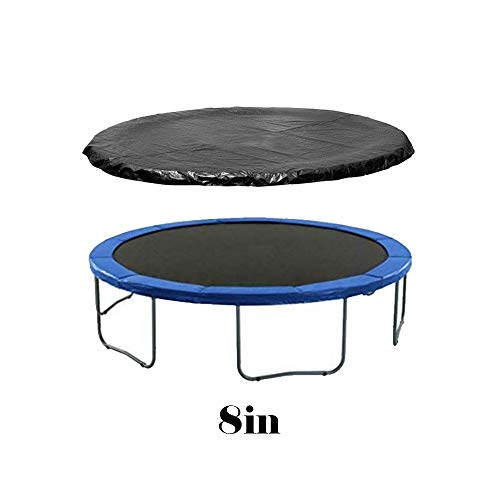 ATopoler 6ft 8ft 10ft 12ft 14ft Trampoline Cover Waterproof UV Resistant Protection Cover Trampoline Padding Pads for Weather High Winds Rain Protect,Black (8ft)