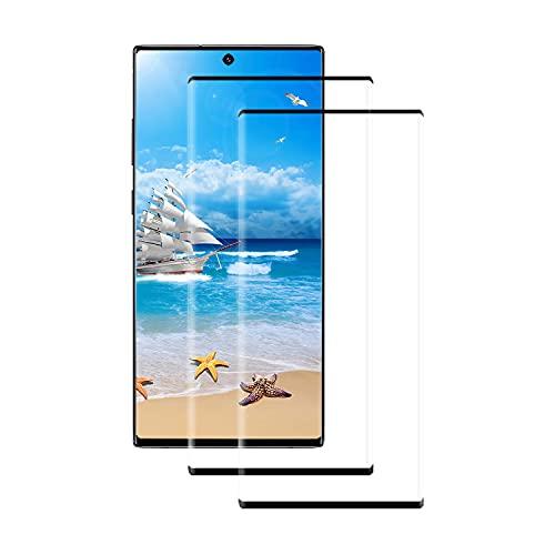 [2 stück] Schutzfolie für Samsung Galaxy Note 10 Plus, 9H Festigkeit Panzerglas,3D Curved Volle Bedeckung Panzerglasfolie, Blasen-Frei,hohe Empfindlichkeit,Bildschirmschutzfolie für Samsung Note 10+