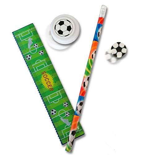 12x Schreibset Fußball Mitgebsel für Kindergeburtstag und Schultüte STUWU®