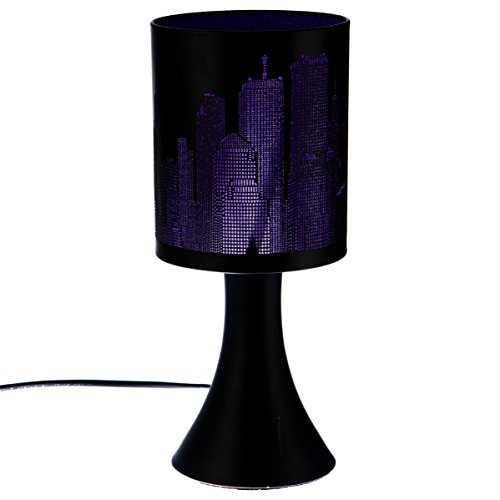 Lampe tactile New york Violette/Noire 3 intensités
