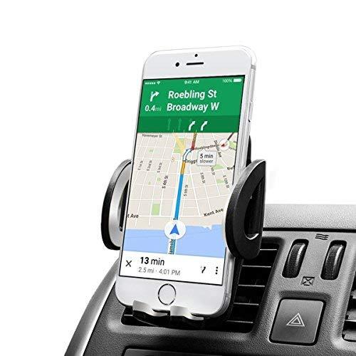 QueenDer Auto Handyhalterung, Autotelefonhalter Universal Lüftungsschlitz Kühlergrill Handyhalter für 360 Grad Einstellbar Halterungen für iPhone XS X 8 Plus Samsung Galaxy S9 Huawei Sony GPS-Gerät