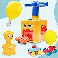 バルーンパワード起動カー、慣性力バルーンカー玩具セット、風船とエコクリエイティブインフレータブルバルーンポンプ車、教育玩具 (Color : 12 Balloons-D)