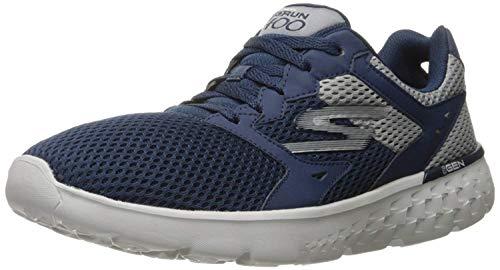 Skechers Blauer Sportschuh mit Schnürsenkeln Aus Stoff, auf der Zunge, Seitlich und Hinten Ein Logo, Jungen-39,5