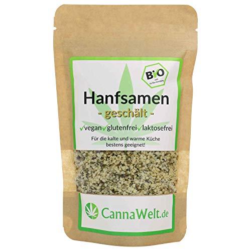 CannaWelt Bio Hanfsamen - geschält - Für die kalte und warme Küche bestens geeignet - DE-ÖKO-039 (500 Gramm)