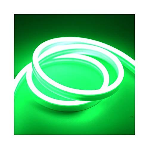 CHUNMA 6mm Reduzca la luz de neón 12V tira LED SMD 2835 120leds / M del tubo flexible de la cuerda a prueba de agua for el bricolaje día de fiesta de la decoración de la Luz (Color : Green)