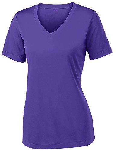 Opna Women's Short Sleeve Moisture Wicking Athletic Shirt, X-Small, Purple