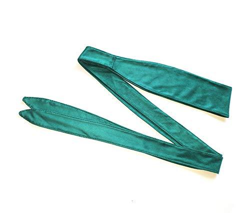 XKMY Cinturón de terciopelo suave para mujer con decoración de mujer, elegante, de terciopelo, accesorios de lujo, cinturón desabrochado (longitud del cinturón: 230 cm, color: verde)