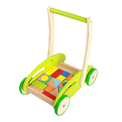 Amazing Deal Yeahibaby Baby Walker Wooden Learning Walker Adjustment Height Walker Toddler Toys