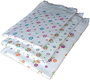Genric White Printed Cotton Bath Towel, Full Size (30x60inch) 200gsm 3