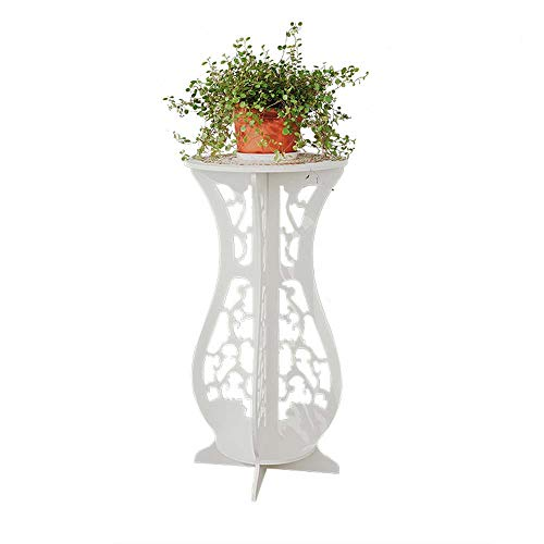 CHXIHome Balcony Round Coffee Tea, Table Lamp Stand, Plant Rack, Balcony Tea Table Bracket, Plant Stand Shelf, Bonsai Holder