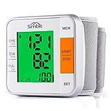 SIMBR Tensiomètre Électronique au Poignet-Mémoire 2x120 pour 2 Utilisateurs et Trois Couleurs -Avec Écran LCD Intelligent-pour Le Détecteur d'Arythmie Cardiaque et Hypertension