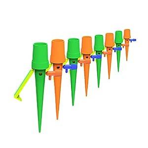 12 Pcs Riego por Goteo Automático Kit,Sistema de riego Plantas,Botella de riego por Goteo para Jardín Bonsáis y Flores, Ideal Dispositivo de Irrigación Automático en Vacaciones
