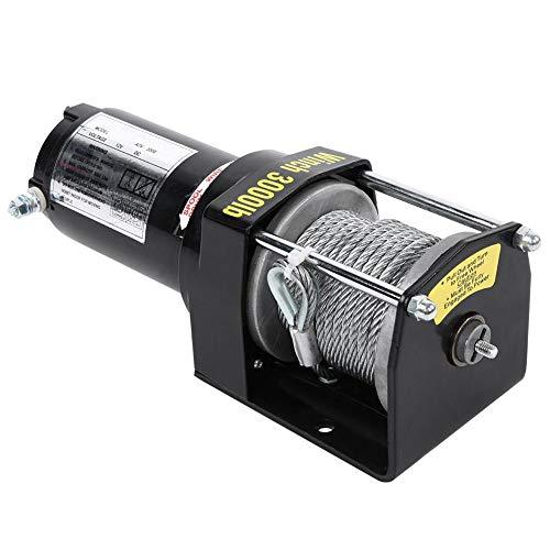 Malacate de recuperación eléctrica de 3000 lb (1360 kg), kit de control...