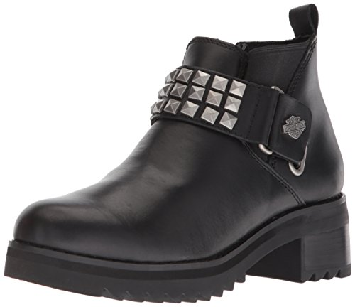 HARLEY-DAVIDSON FOOTWEAR Women's Kemper Fashion Boot, black, 5 Medium US