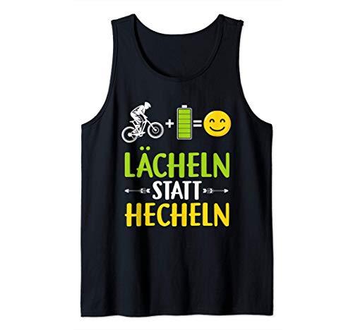 Lächeln statt Hecheln | Ebike E Bike Spruch E-Bike Tank Top