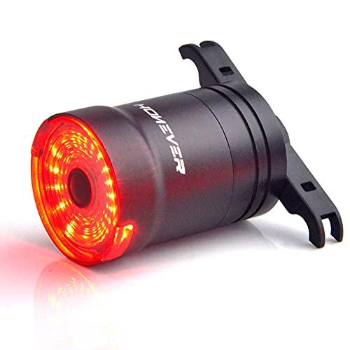 N\C Luces de bicicleta Sensor inteligente con 6 modos de flash Luz trasera USB recargable LED luces traseras de ciclismo Fácil de instalar IPX6 impermeable casco de bicicleta luz (tija de sillín)