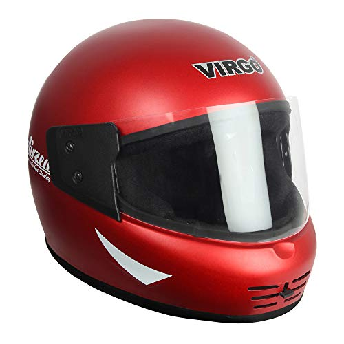 Virgo Airzed Matt finish Visor Clear Helmet (Cherry Red)