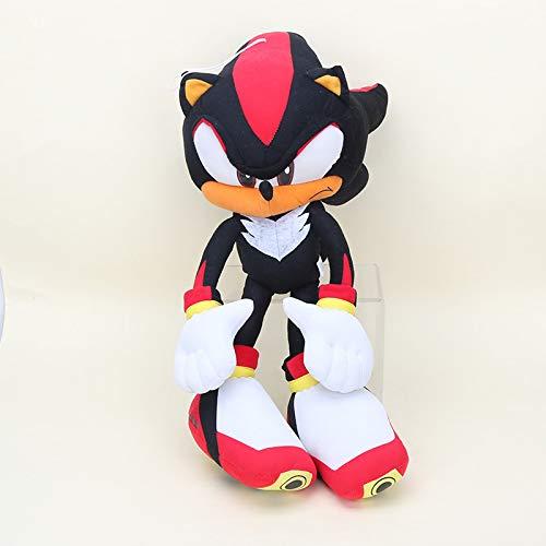 YUNMEI Sonic Juguetes 50cm Sonic The Hedgehog Plush Super Big Sonic Plush Hedgehog Toy Silver The Hegdehog Cosplay Disfraz Muñeca de Peluche rellena Suave