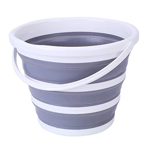 Cubo Plegable Para Camping Con Asa Para Fregar Lavar Plegables Portátil de Limpieza Cubos Para Cocina Camping Pesca Cubo Plegable de Plástico Para Hogar Exteriores Caravanas Senderismo (10L Verde)