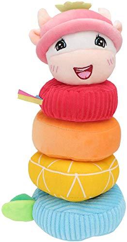 Peluche Rainbow Stacker Baby Stacking Toys Baby Learnind Juguetes Ayuda Bebé Desarrollar Habilidades Motoras Finas y COORDINACIÓN DE Mano Ojos QINGLUAN Qingluan