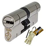 40/50 Nickel Yale Superior Euro Cylinder with 3 Keys Anti Snap/Bump/Pick/Drill/Pull High Security