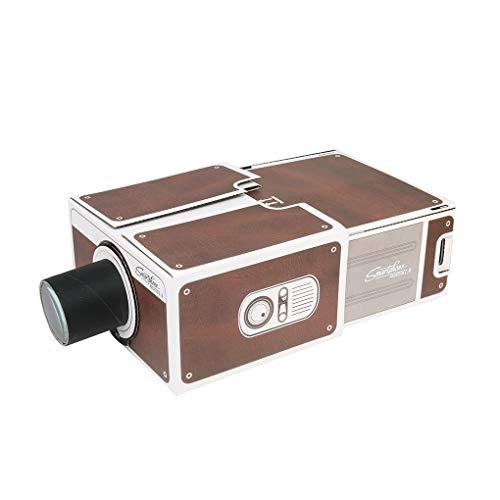DIAMOEN Cartón 3D Mini Smartphone proyector de luz Ajustable DIY ...