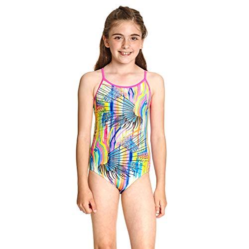 Zoggs Tropix Bella Crossback - Traje de baño de una Pieza de Tela ecológica para niña, niña, 506020026, Multicolor, 26 UK/116cm (6 Years)