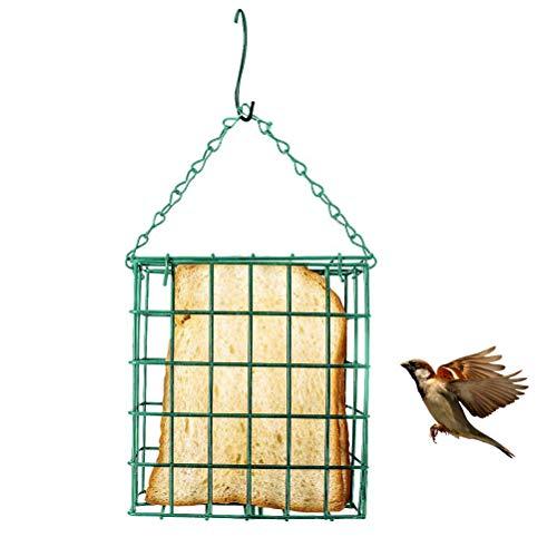 ZARQ Mangeoire pour Oiseaux, Carré Oiseau Distributeur de Nourriture Jardin Pendaison Stations de Mangeoires doiseaux Nourrisseur de Sébum pour Oiseaux Sauvages