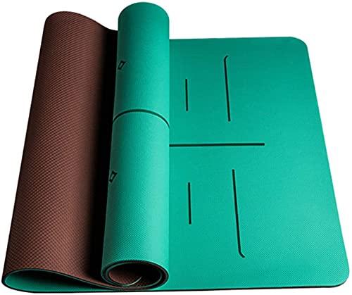 LSLS Esterilla De Yoga 8 mm espesos alfombras de Yoga Antideslizante Fitness Ejercicio Estera 6 Colores Esterilla Fitness (Color : C)