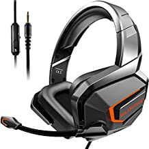 Gaming Headsets, Theater-Like Deep Immersive Gaming Headphones, Noise Cancelling Headphones with Microphone, Compatible with PS4/PS5/PC/Nintendo Switch