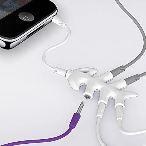 Divisor de audio: 5 salidas jack de 3,5 mm: smartphone, MP3, tabletas, PC, TV, sistema, cine en casa, auriculares, altavoces.