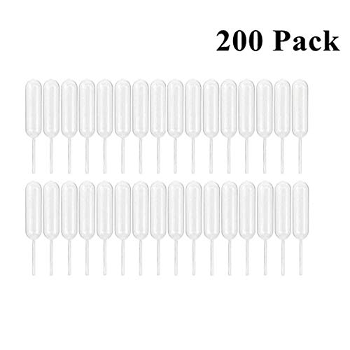 ANSTER 200pcs Plastic Transfer Pipettes Suitable for Cakes(4ml, Standard)