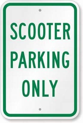 Scooter Parking Only Sign Safety Sign Tin Metal Signs Road Street Notice Sign Outdoor Decor Caution Signs Metal tin sign Placa Metal 20x30cm A022