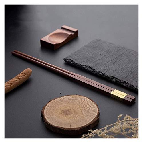 Reusable Chopsticks Chopsticks Non-Slip Wear-Resistant Pure Wood Production Natural Household Chopsticks Set for School, Home, Office, Outdoor, Bento Box Use,