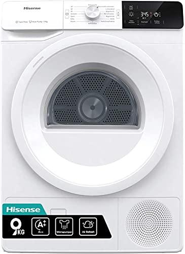 Hisense DHGE901 Wärmepumpentrockner/ 9 kg/ A++/ Knitterschutz/ Startzeitvorwahl
