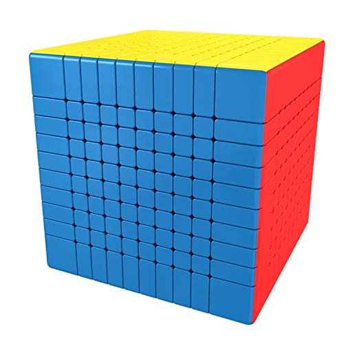 LiangCuber Moyu Meilong 10x10 Speed Cube Moyu MoFang JiaoShi MFJS MEILONG 10x10x10 Cubing Classroom 84mm Size Magic Cube Stickerless